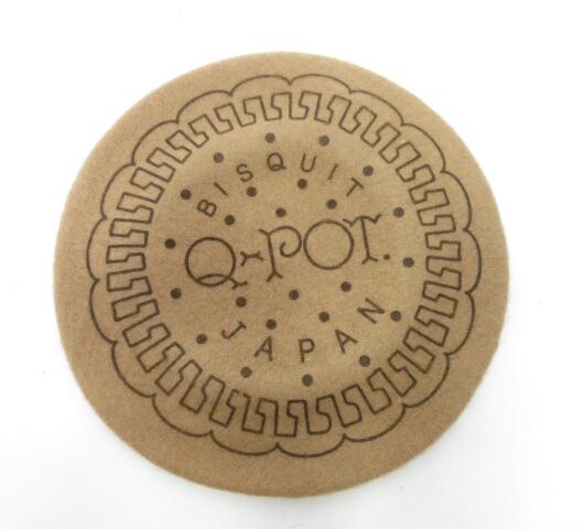 Q-pot. ミルクビスケットベレー帽