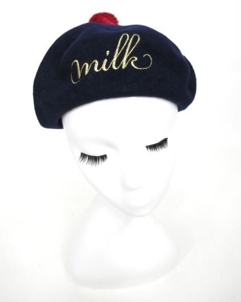 MILK PomPon ベレー帽