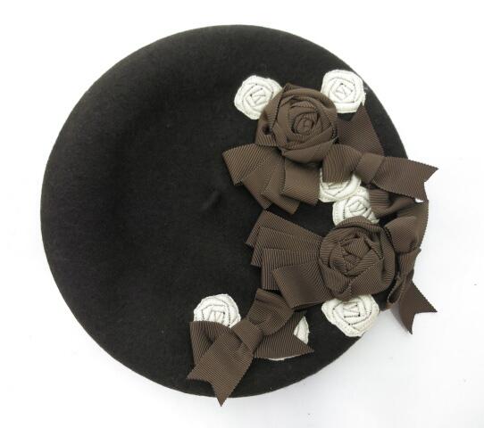 Enchantlic Enchantilly 薔薇レースとトロワリボンのベレー帽