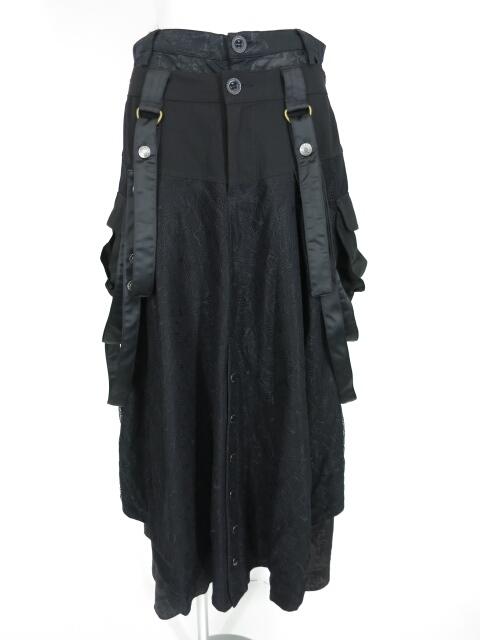 S.D.S NAOTO SEVEN スカート重ねワイドパンツ