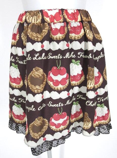 Emily Temple cute タルト&クリームプリントスカート
