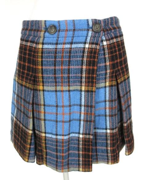 Vivienne Westwood ANGLOMANIA ウールタータンチェック巻きスカート