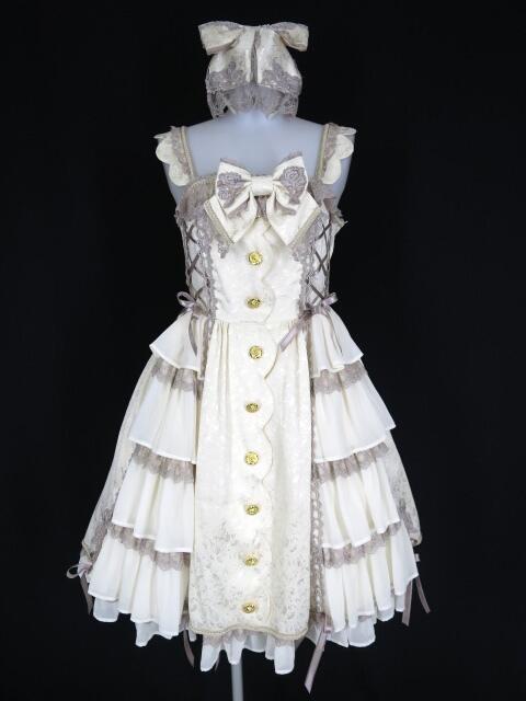 Angelic Pretty Dream Roseジャンパースカート&カチューシャ