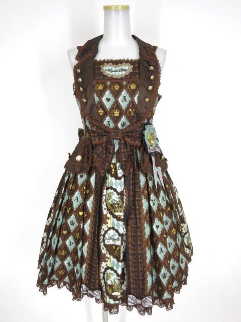 Angelic Pretty Queen Chocolateジャンパースカート&ロゼッタブローチ セット