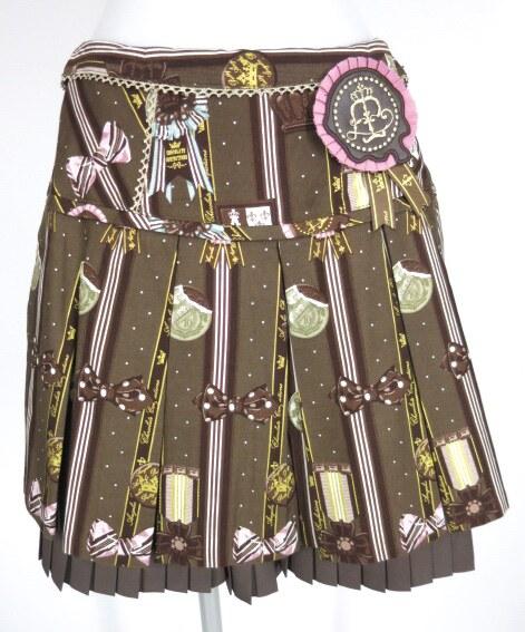 Angelic Pretty Chocolate Rosette スカート&オーバーニーソックス&カチューシャ セット