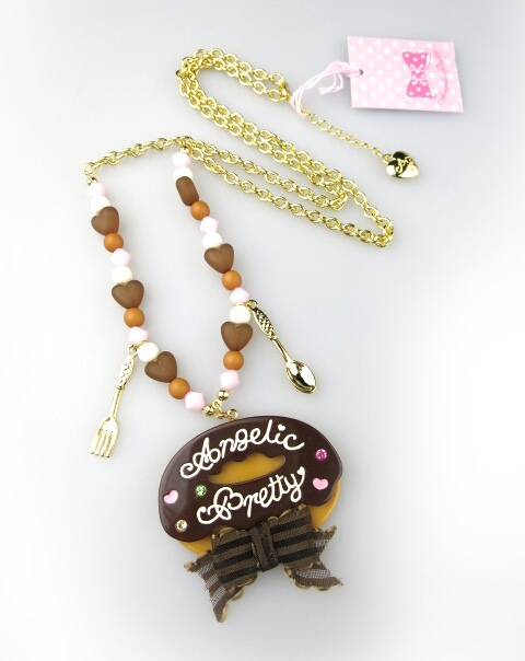 Angelic Pretty Creamyドーナツネックレス
