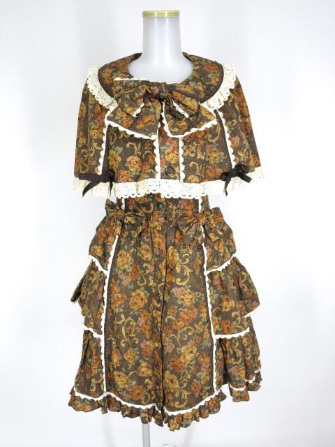 Metamorphose ゴブラン風くまちゃんケープ付ジャンパースカート