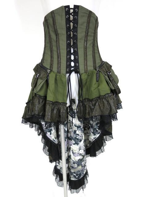 Qutie Frash ミリタリーコルセットオーバースカート