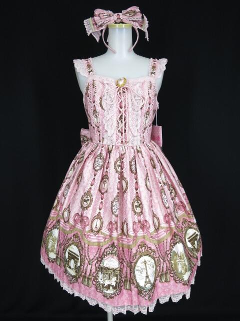Angelic Pretty カメオウィンドウジャンパースカート&カチューシャ