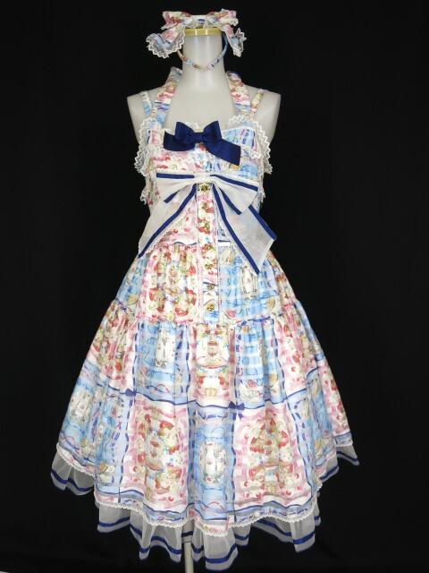 BABY, THE STARS SHINE BRIGHT Ruban le Lien a la mode柄ティアードジャンパースカート&カチューシャ