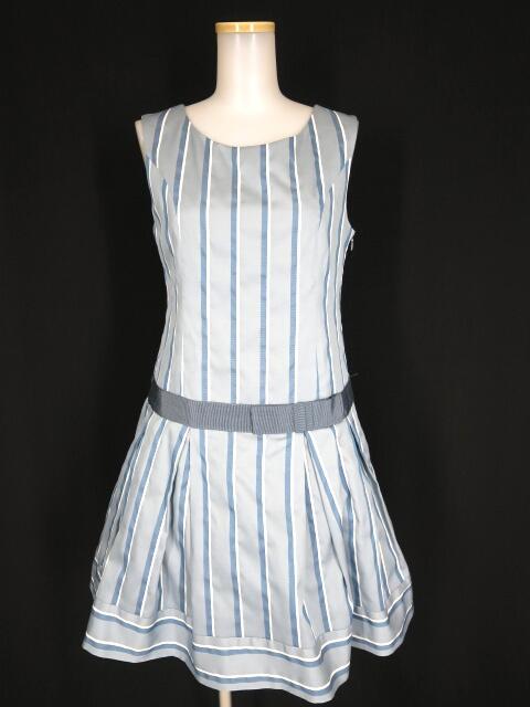 Jane Marple レジメンタルストライプドレス