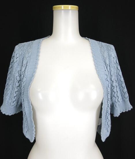 Jane Marple 透かし編み半袖ボレロ