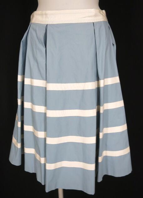 Jane Marple マリンボーダーのゴアードスカート