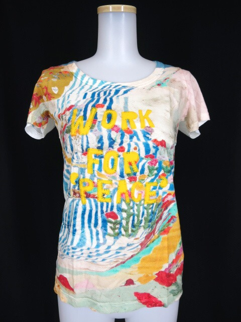 AHCAHCUM-MUCHACHA WORK FOR PEACE ワッペンTシャツ