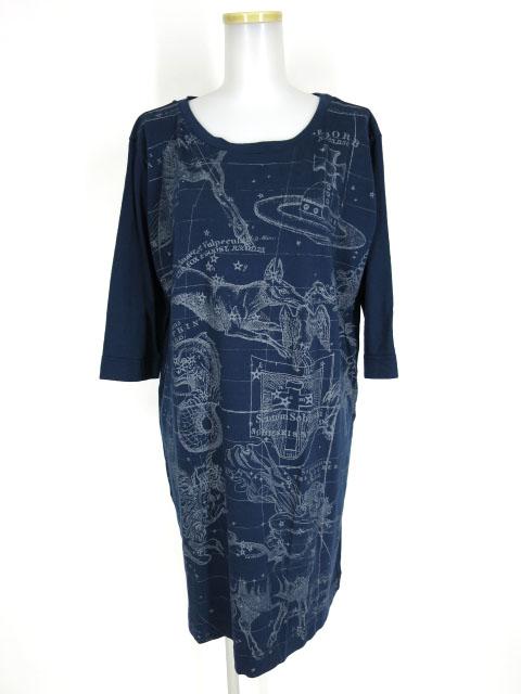 Vivienne Westwood RED LABEL 星座柄七分袖Tシャツワンピース