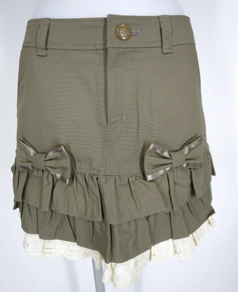 Emily Temple cute リボン&レース付きフリルミニスカート