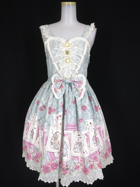 BABY, THE STARS SHINE BRIGHT 薔薇咲く夜に訪れる不思議な物語柄ハートジャンパースカート