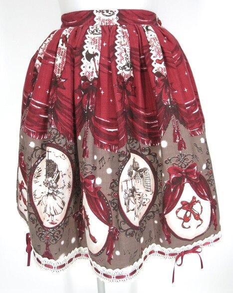 BABY, THE STARS SHINE BRIGHT Chame de Rouge~私だけの赤い靴~柄スカート
