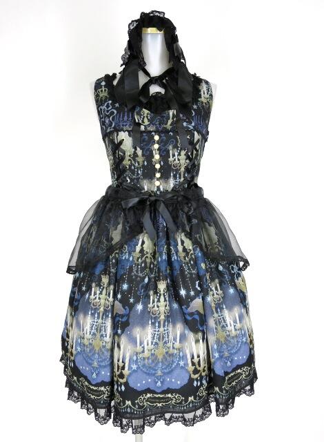 Angelic Pretty Chandelier Holicジャンパースカート&ヘッドドレス セット