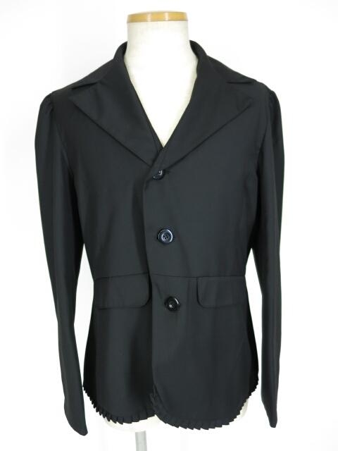 Deorart 裾プリーツ付きテーラードジャケット