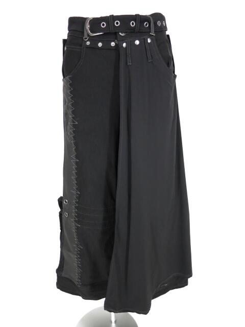 Ozz Croce オーバースカート付きワイドパンツ