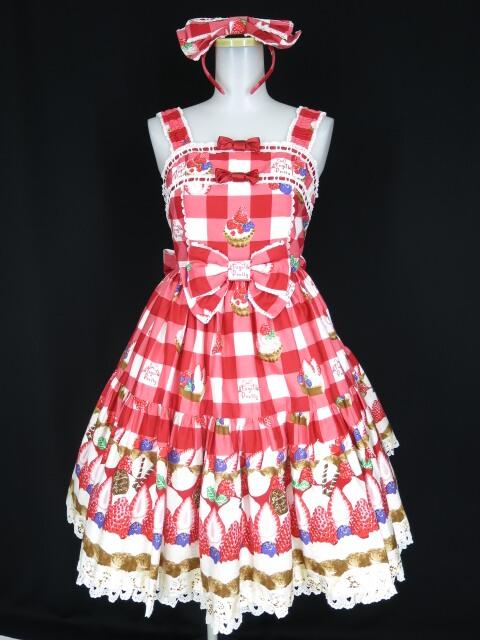 Angelic Pretty トリプルタルトジャンパースカート&カチューシャ