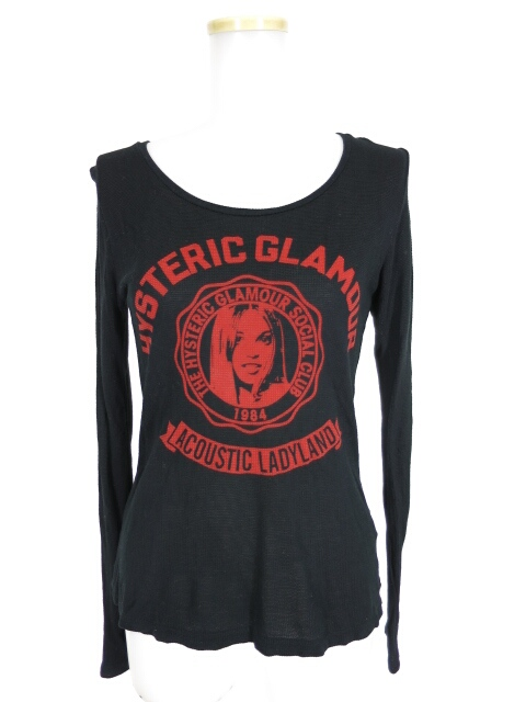 HYSTERIC GLAMOUR ガールプリント長袖カットソー