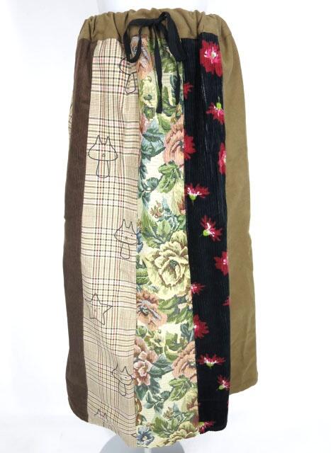 MINT NeKO 異種素材切替ロングスカート
