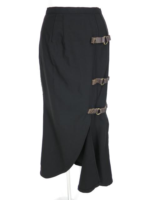 alice auaa サイドベルト付きロングスカート