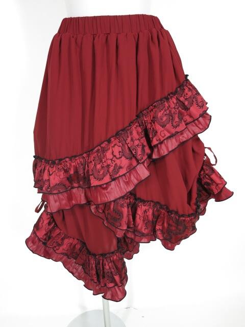 Qutie Frash ドラゴンサテンフリル付きスカート