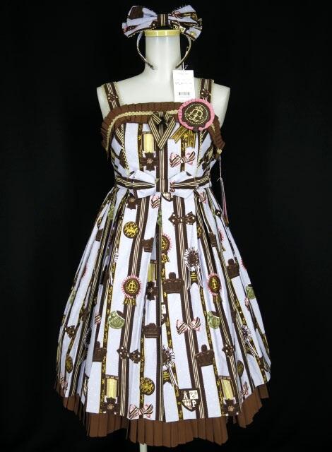 Angelic Pretty Chocolate Rosetteジャンパースカート&カチューシャ&ソックス
