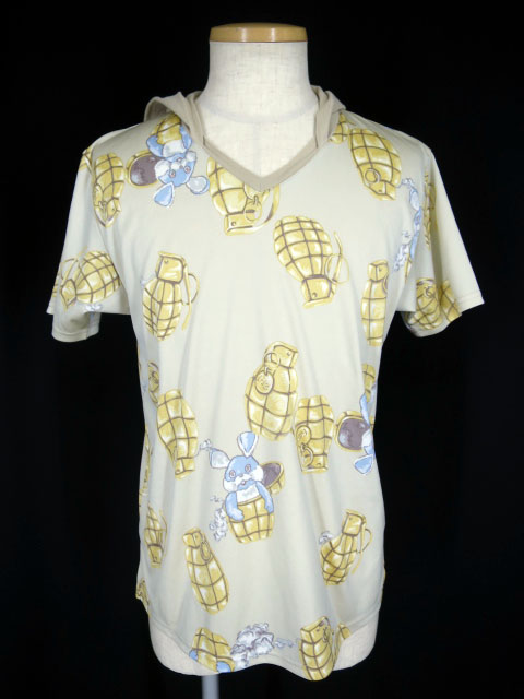 MILK BOY PINE BOMB フード付きVネックTシャツ