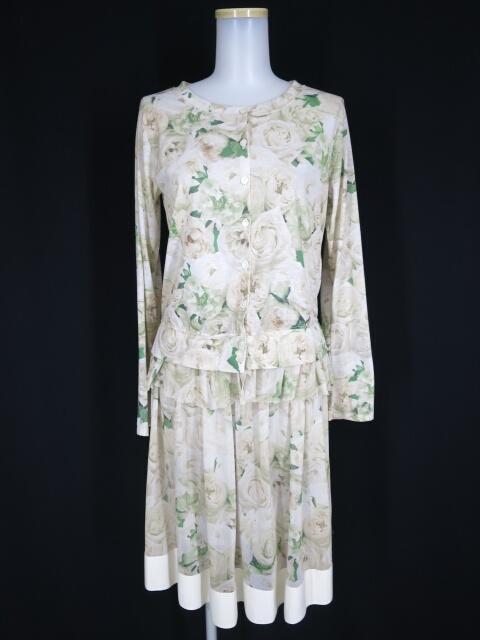 Jane Marple Dans Le Salon ローズ柄カーディガン&メッシュチュールスカート