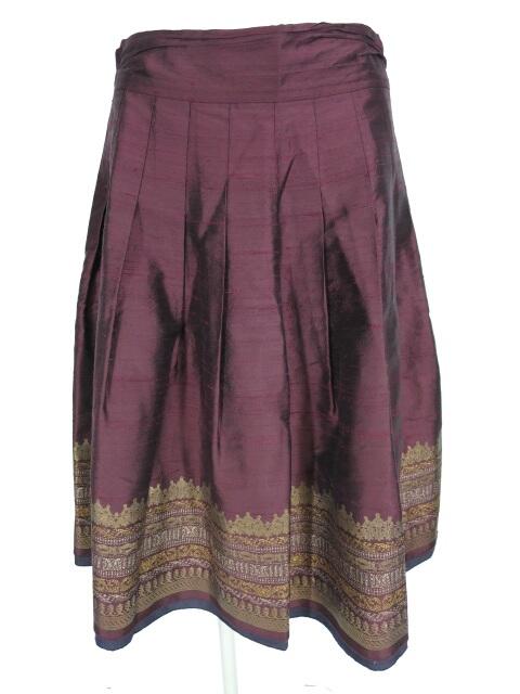 Jane Marple Dans Le Salon 裾プリントシャンタンスカート