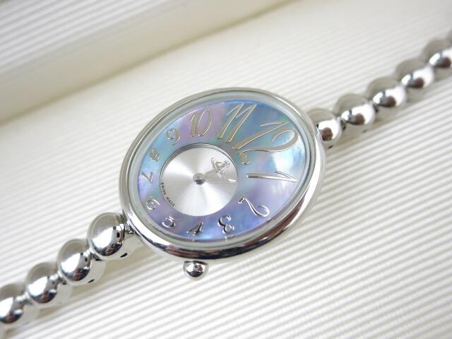 Vivienne Westwood シェル文字盤 丸ベルト 腕時計(VW-9039)