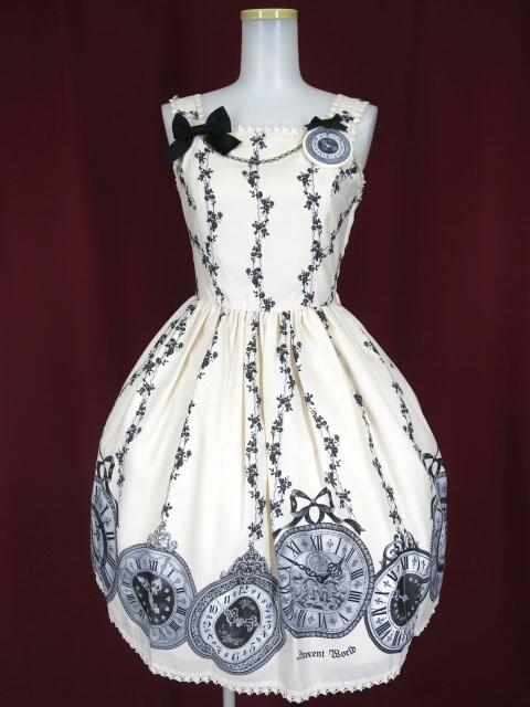 Innocent World 薔薇の懐中時計ブローチジャンパースカート
