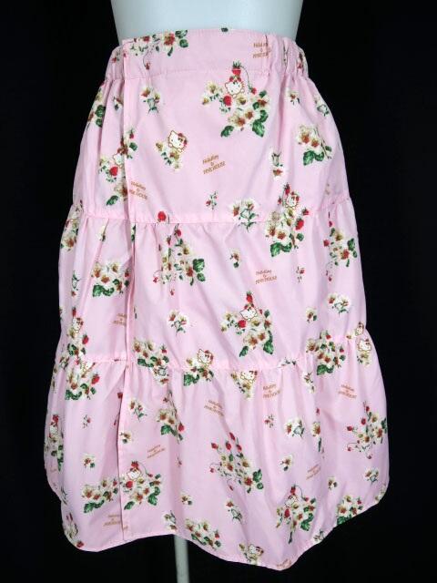 PINK HOUSE × Hello Kitty ストロベリー柄リバーシブル巻きスカート