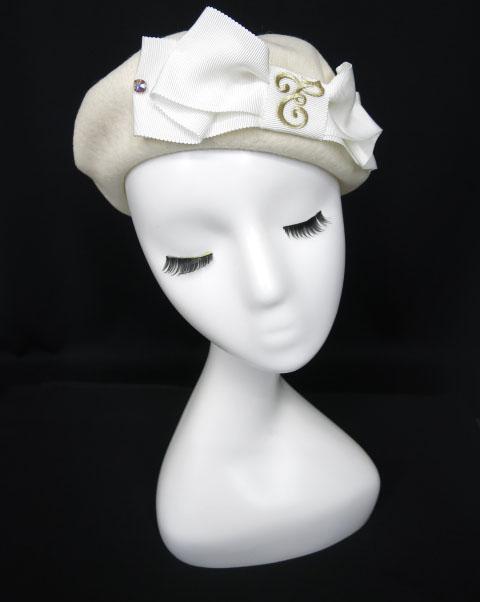 Enchantlic Enchantilly Cat Earsロゴ刺繍ベレー帽