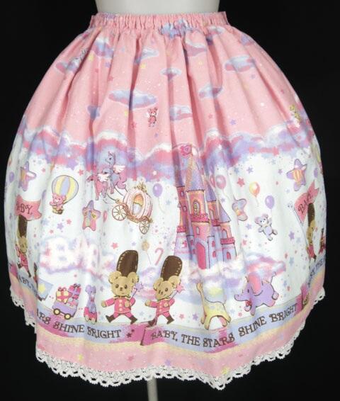 BABY, THE STARS SHINE BRIGHT Toy's Fluffy Dream柄スカート