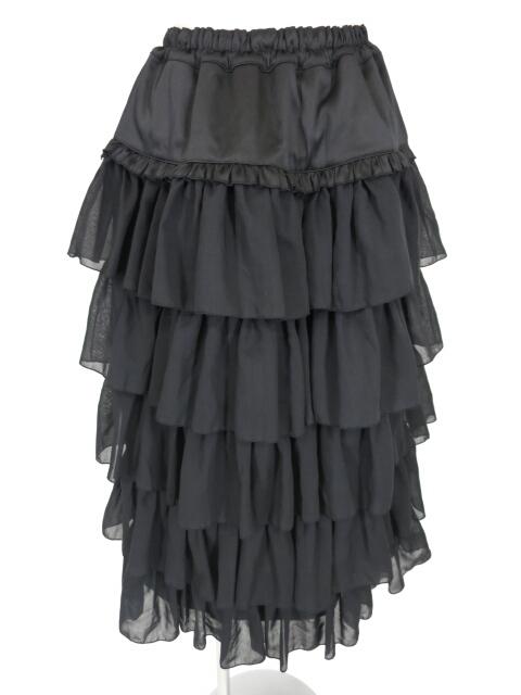 MARBLE ティアードフリルロングスカート