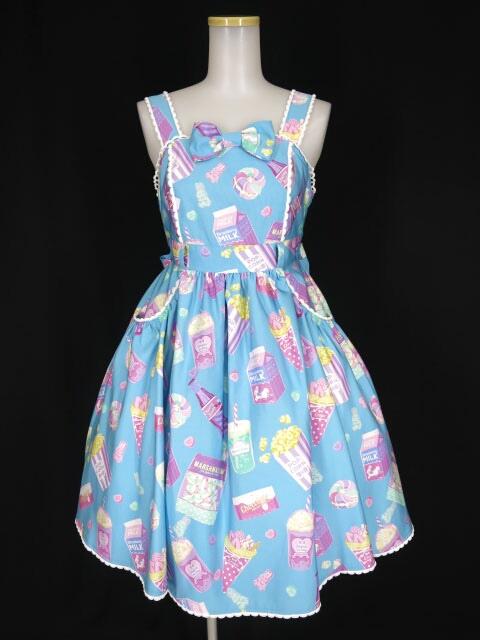 Angelic Pretty Fancy Candyジャンパースカート&バレッタ セット