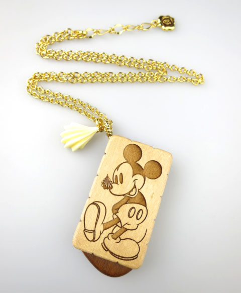 Q-pot.×Disney ミッキーマウス ビスケットネックレス