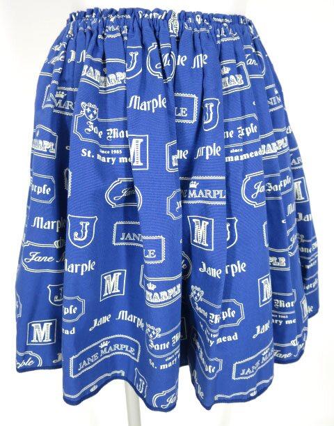 Jane Marple ロゴプレート柄スカート
