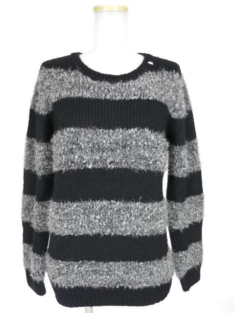 MINT NeKO ラメボーダーニットセーター