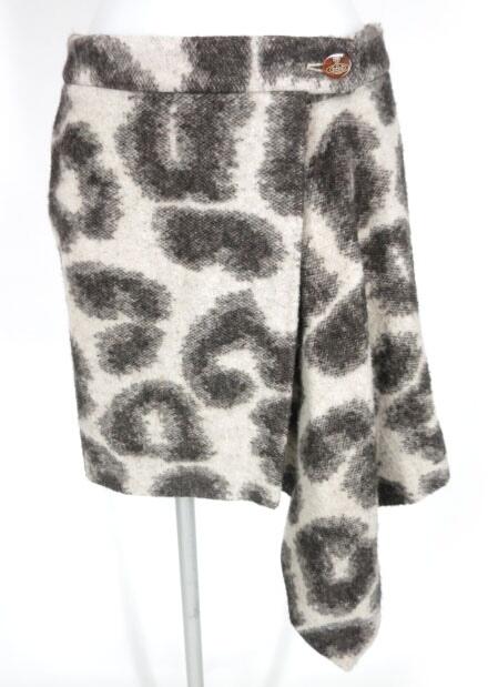 Vivienne Westwood RED LABEL レオパード柄ウール巻きスカート