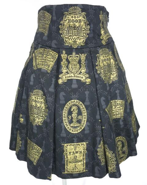 Jane Marple チェスプリントスカート