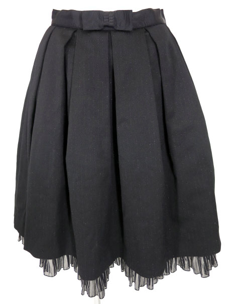 Emily Temple cute ラメストライププリーツスカート