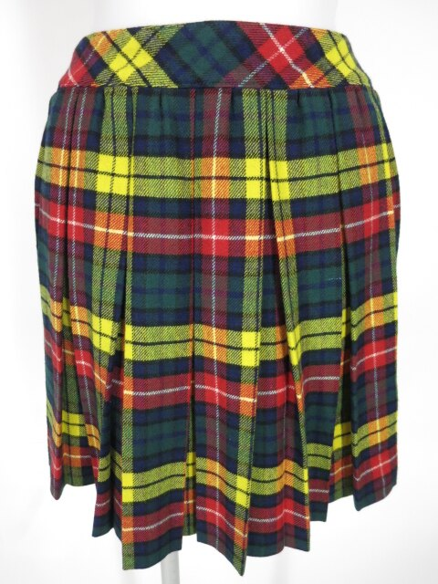 Jane Marple タータンチェック柄ウールプリーツスカート
