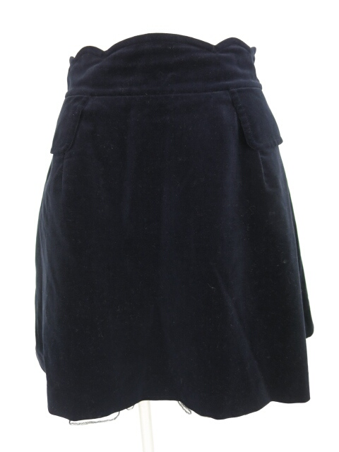 Jane Marple ウエストスカラップ別珍スカート