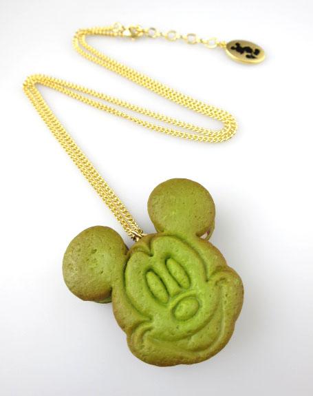 Q-pot.×Disney ミッキーマウス アズキ クッキーサンドアイス ネックレス